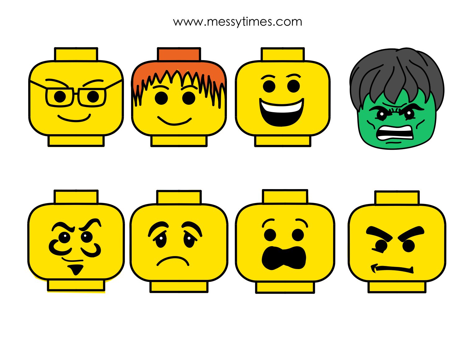 photograph regarding Lego Head Printable titled Lego Mind Clipart Black And White