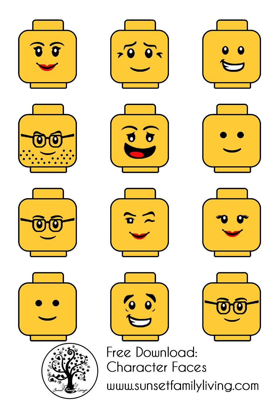 Lego Head Vector at GetDrawings | Free download