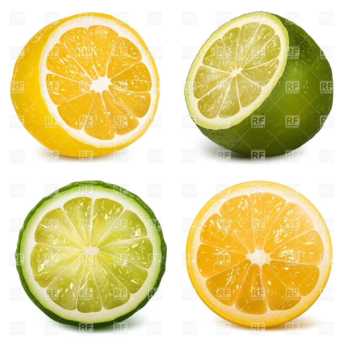 1200x1198 Ctrus Fruits Lime And Lemon Vector Image Vector Artwork Of Food