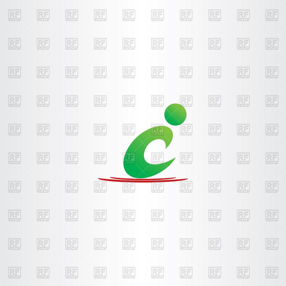 1200x1200 Green Man Letter C Icon C Logo Vector Image Vector Artwork Of