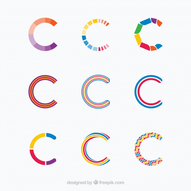 626x626 Multicolor Letter C Logo Collection Vector Free Download