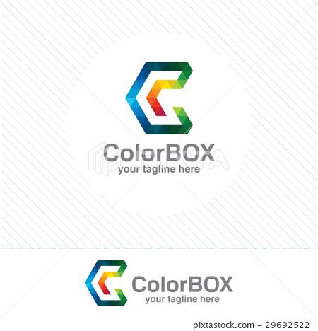 450x468 Colorful Pixel Letter C Logo Vector Template
