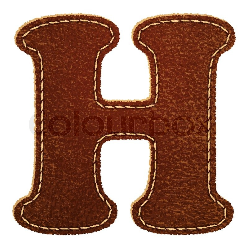 800x800 Leather Alphabet Leather Textured Letter H Stock Vector Colourbox