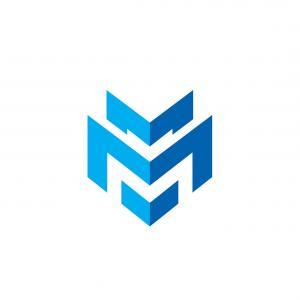 300x300 D Gradient Logo The Letter M Vector Sohadacouri