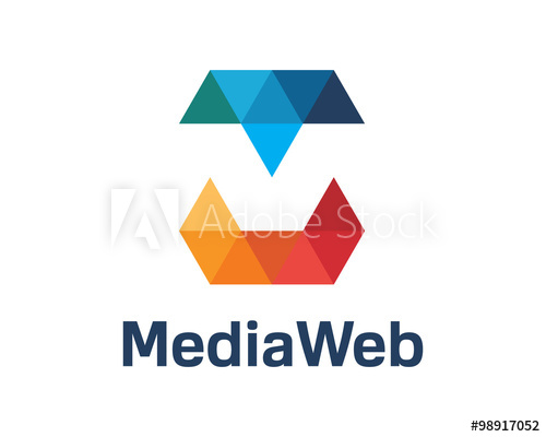 500x400 Letter M Logo Design Vector. Colorful Letter Letter M Logo Design