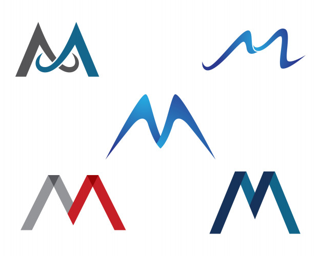 626x500 Letter M Vector Icons Such Logos Template Vector Premium Download