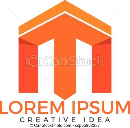 450x444 Letter M Logo Design. Initial Letter M Vector Logo Design Template.