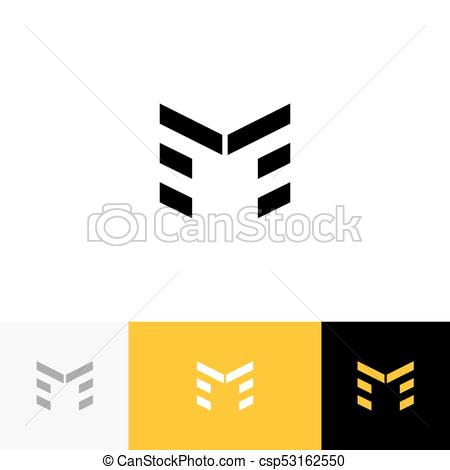 450x470 M Vector. Logo, Icon, Symbol, Sign From Letters M. Flat Logotype