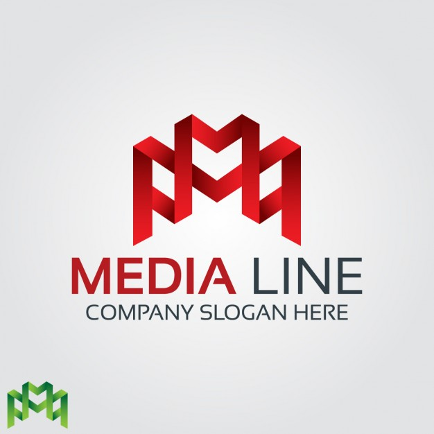 626x626 Abstract Red Letter M Logo Vector Free Download