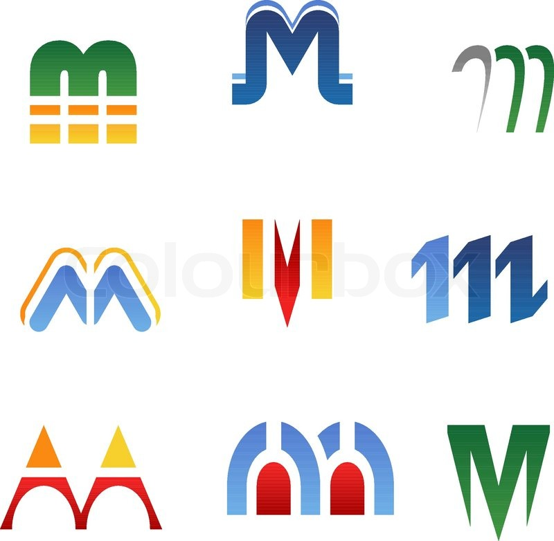 800x782 Set Of Alphabet Symbols And Elements Of Letter M Stock Vector