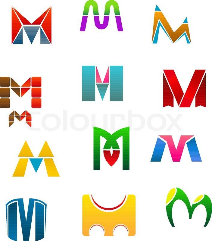 704x800 Set Of Alphabet Symbols Of Letter M Stock Vector Colourbox
