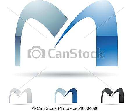 450x381 Abstract Icon For Letter M. Vector Illustration Of Abstract Icons