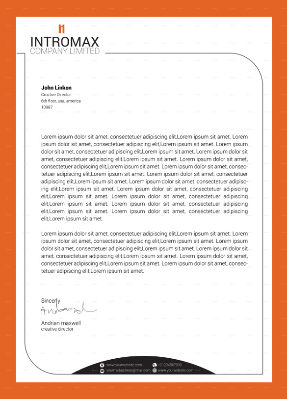 585x813 Company Corporate Letterhead Vector Eps Downloada Company