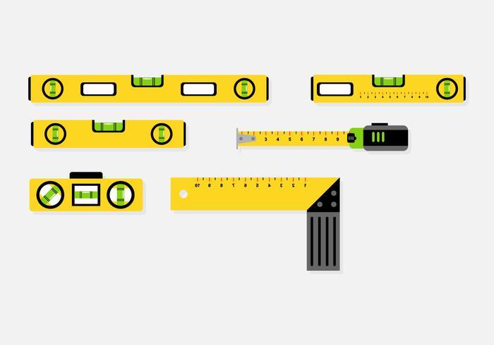 700x490 Tool Level Icon Vector Set