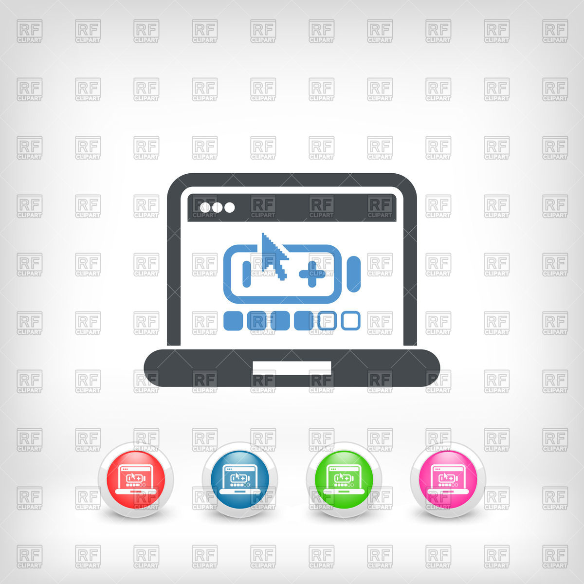 1200x1200 Laptop Battery Charge Level Icon Vector Image Vector Artwork Of