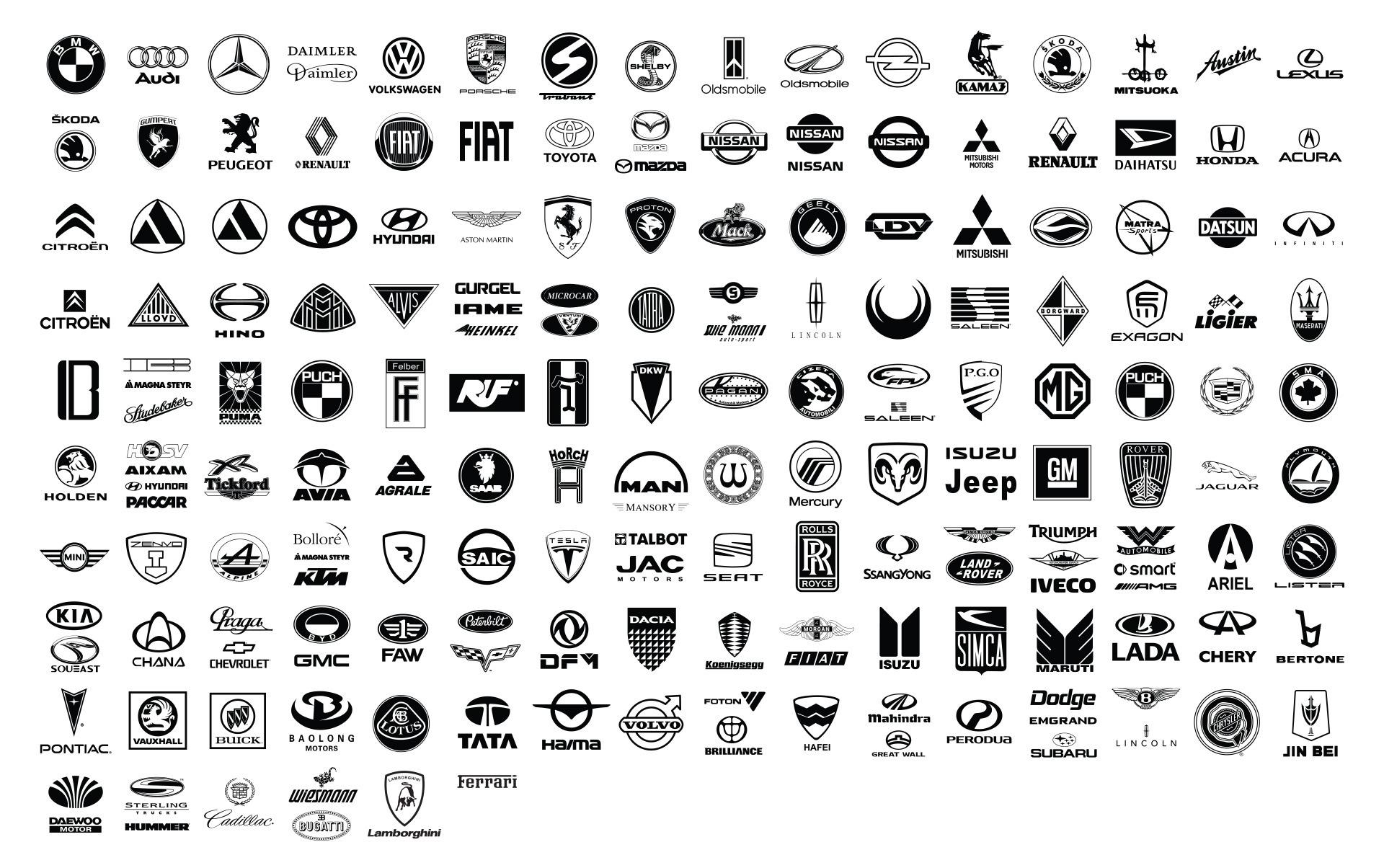 1920x1204 Free Car Logo Brand Vector Pack
