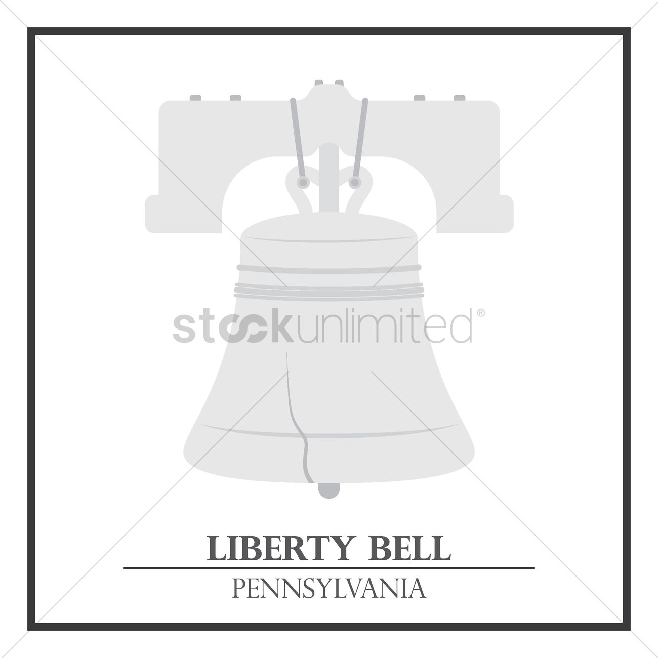 1300x1300 Liberty Bell Vector Image