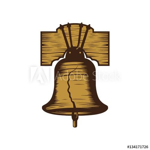 500x500 Liberty Bell Logo Vector