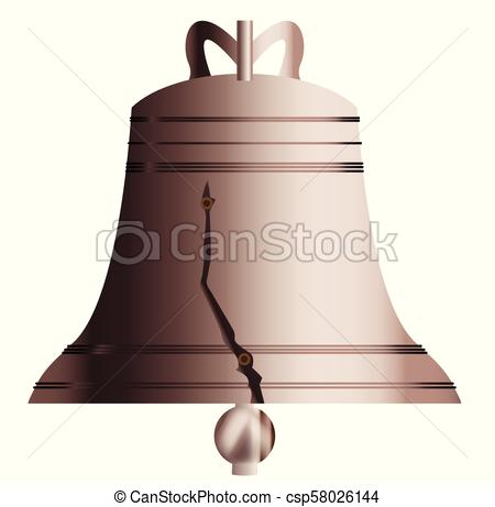 450x461 Liberty Bell With Crack. The Symbol Of American Independence The