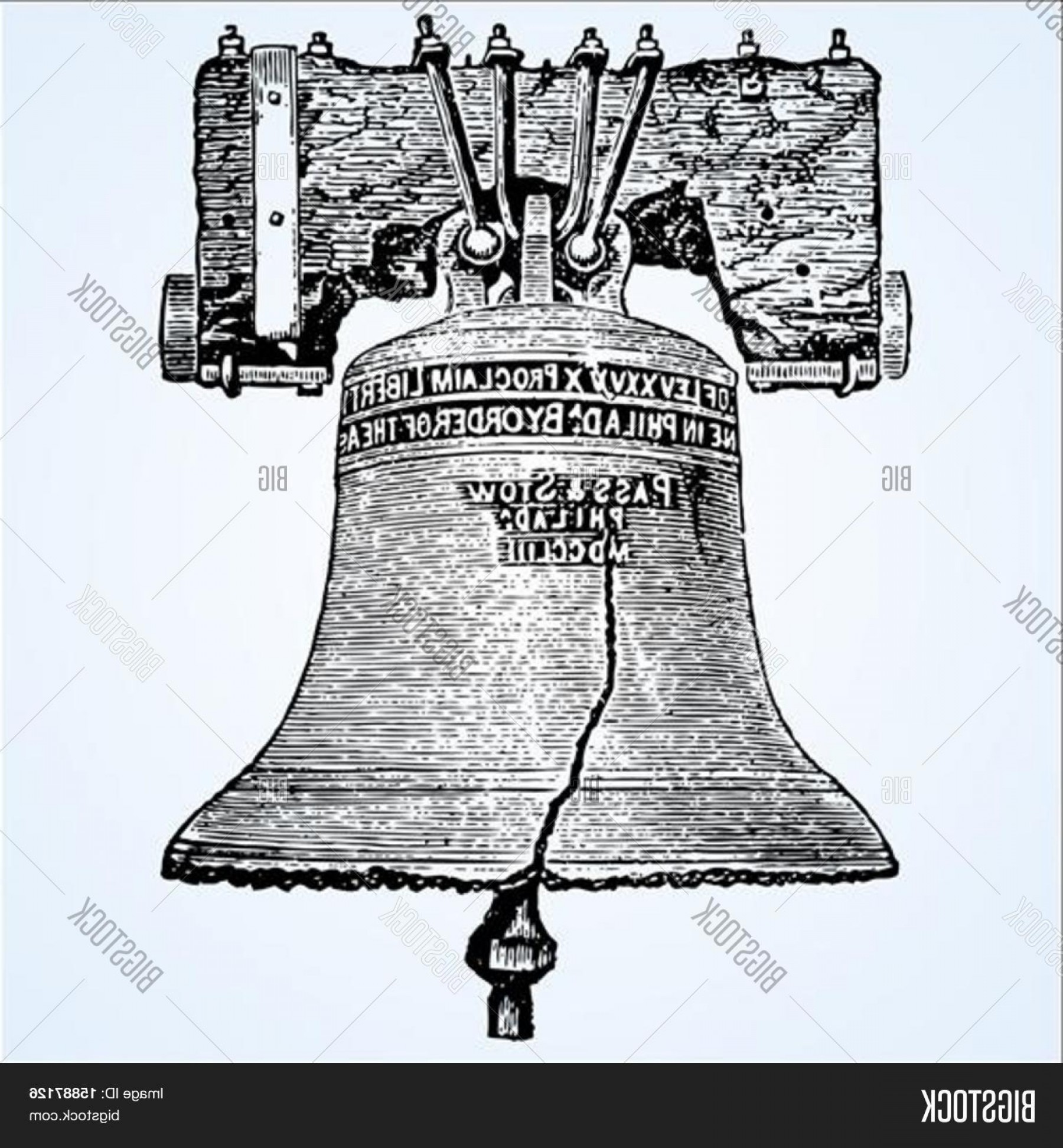 1800x1944 Stock Vector Woodcut Style Vector Illustration Of The Liberty Bell