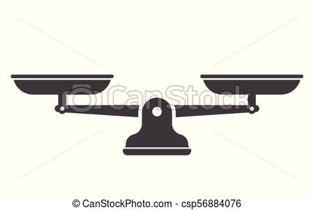 450x301 Libra Isolated On White Background. Scales, Flat Design, Libra