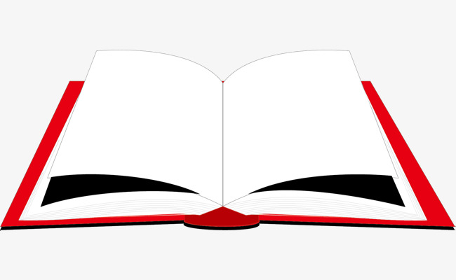 650x400 Red Textbook, Book Material, Vector Book, Open Textbook Material