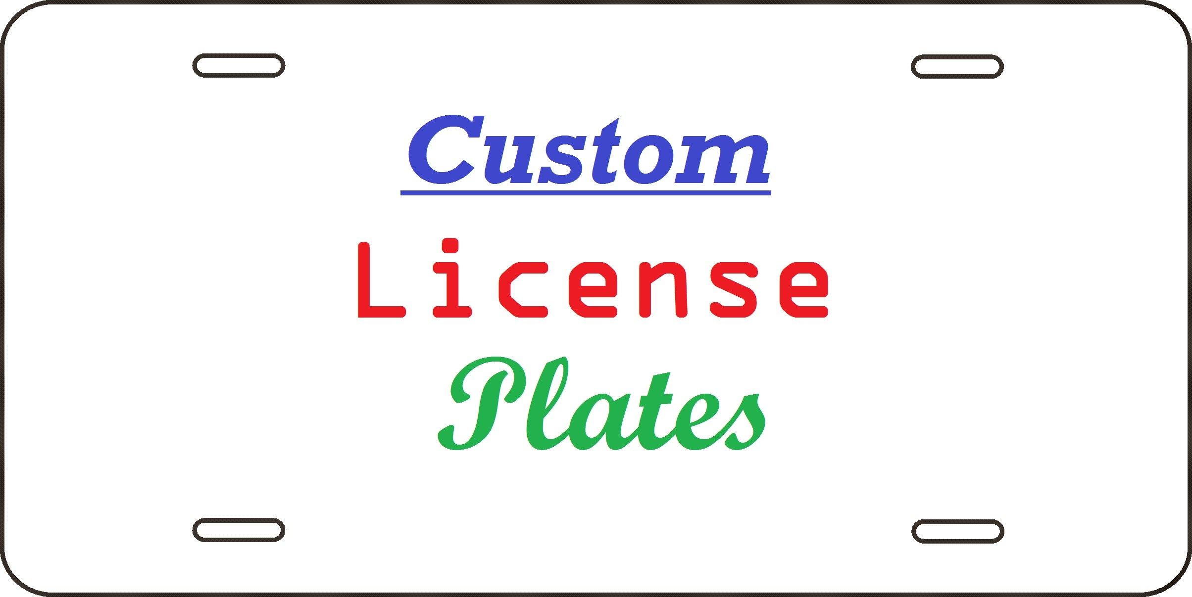 2408x1207 License Plate Template Vector Beautiful Template