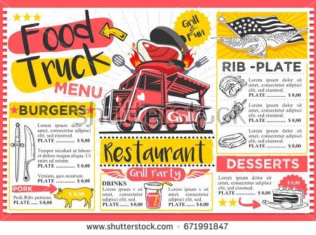 450x335 License Plate Template Vector Awesome Food Truck Vector Download