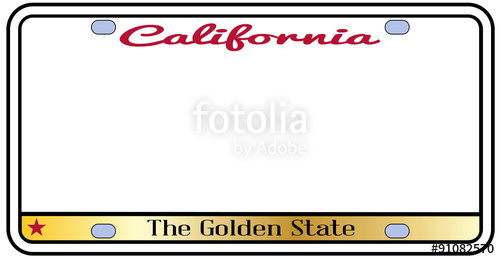 500x259 California License Plate Stock Image And Royalty Free Vector