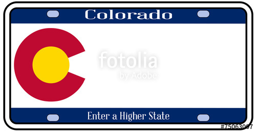 500x259 Colorado State License Plate Stock Image And Royalty Free Vector