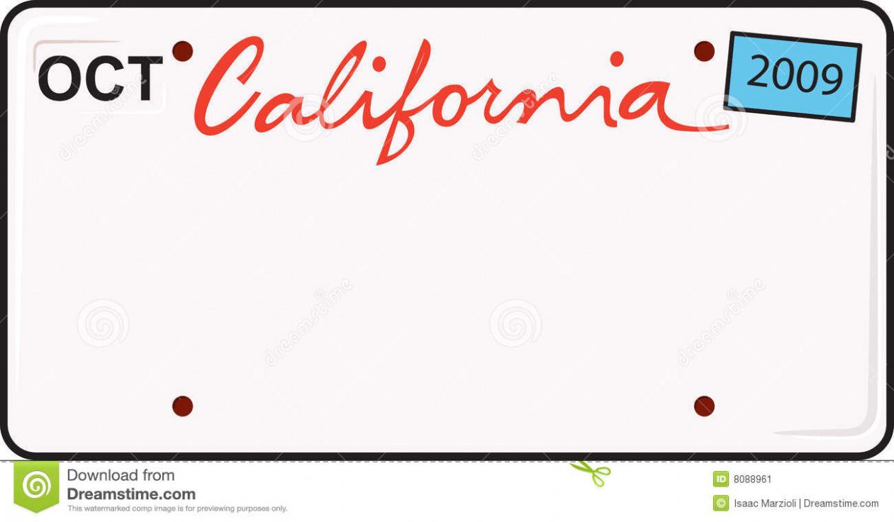 1261x736 Download Free California License Plate Stock Vector Illustration