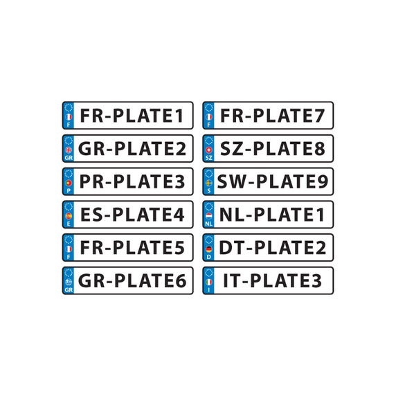 572x572 European License Plate Vector Free Vector Download In .ai, .eps