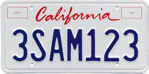 500x250 Free Vector Of California License Plate Script
