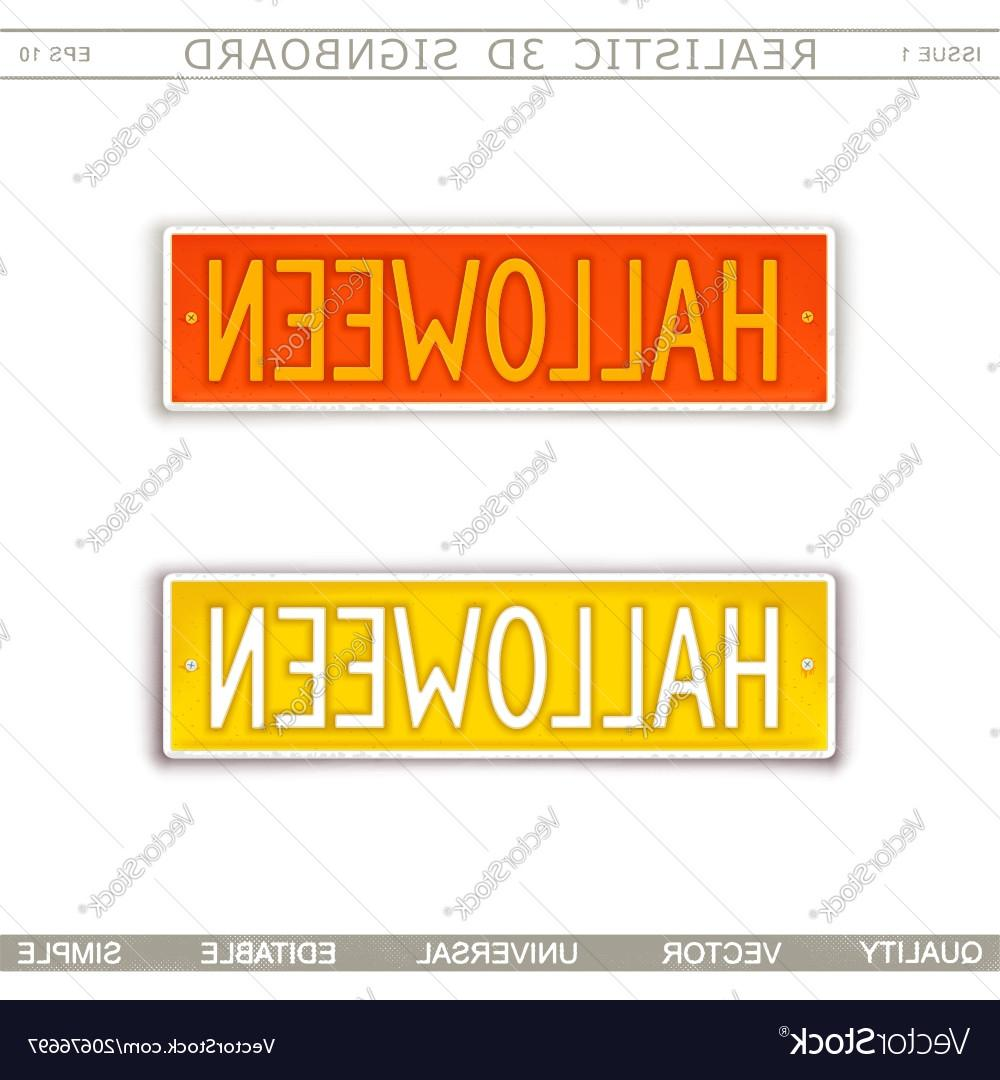 1000x1080 Hd Halloween Stylized Car License Plate Vector Pictures