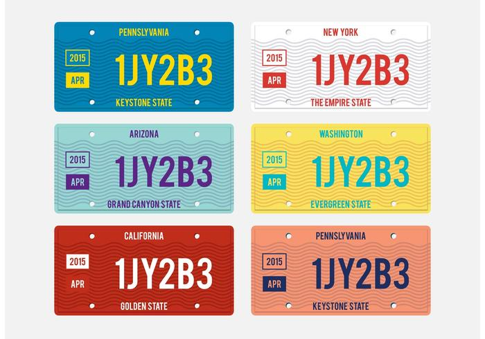 700x490 License Plate Vector Pack