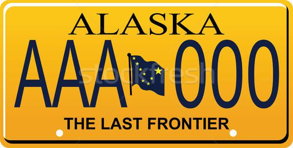600x303 State Of Alaska License Plate Vector Illustration Thai Tia (Ttc