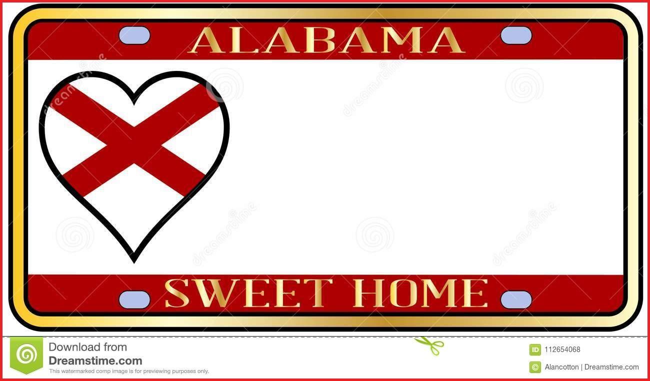 1300x763 Alabama Colors 117090 Alabama State License Plate Stock Vector