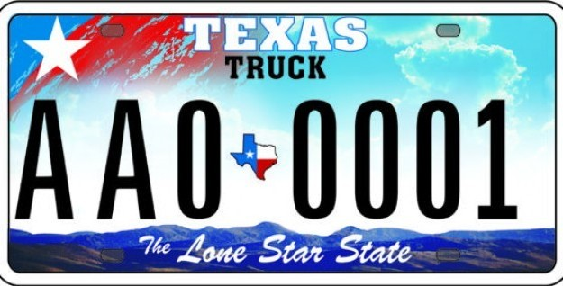 625x318 Texas License Plate Free Images