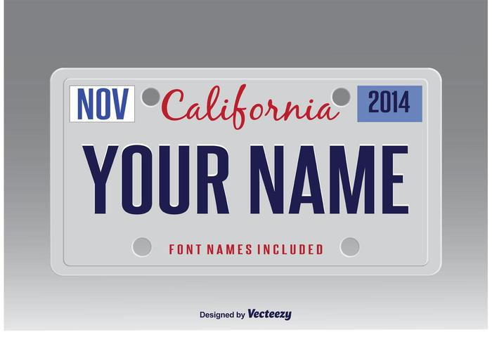 700x490 Vector License Plate