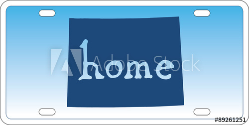 500x251 Wyoming State License Plate Vector