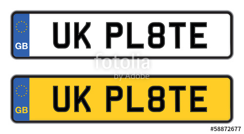 500x275 Uk Number Plate Stock Image And Royalty Free Vector Files On
