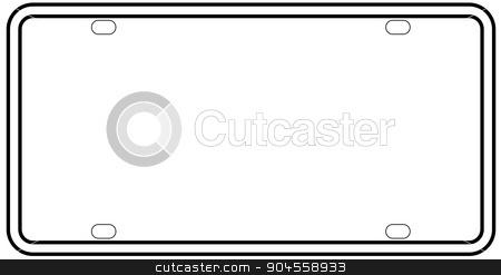 450x247 Blank License Plate Border Stock Vector