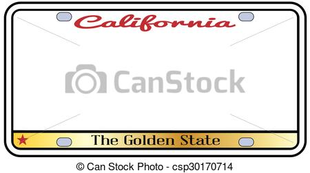 450x252 California License Plate With Motto Over A White Background.