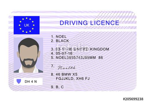 500x354 Uk Driver License Id Card. Cartoon Of Uk Driver License Id Vector