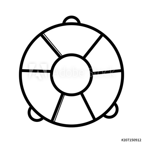 500x500 Life Ring Icon Vector On White Background. Life Preserver Icon