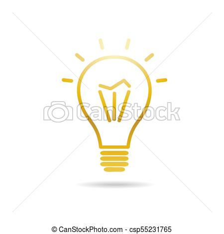 450x470 Electric Bulb Vector. Electric Light Bulb. Vector Symbol In Flat