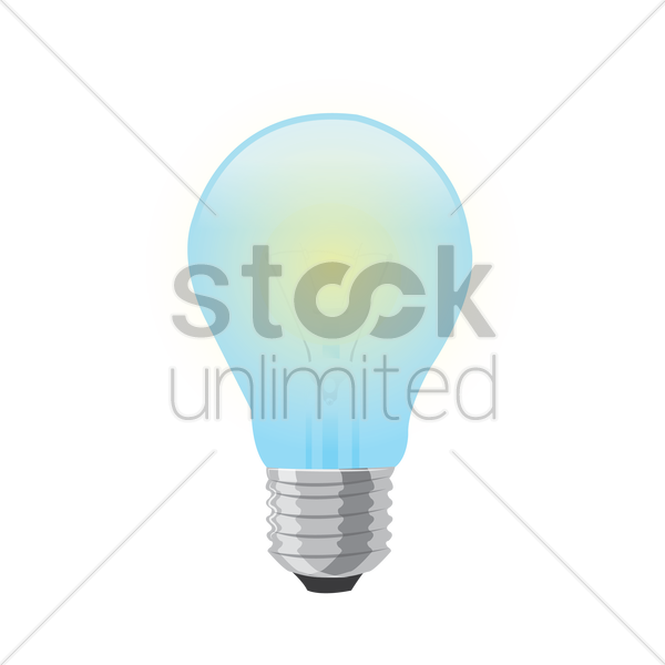 600x600 Free Light Bulb Vector Image