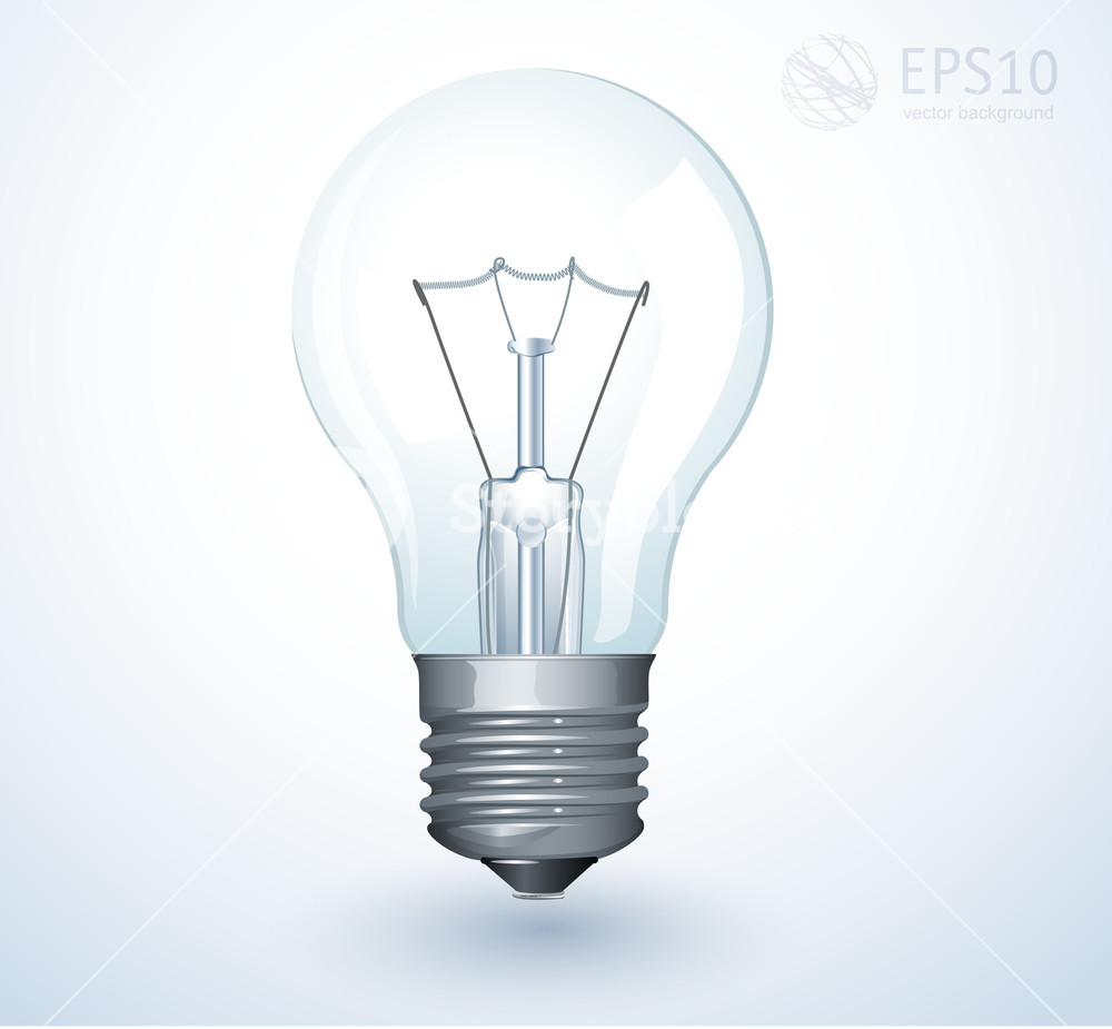 1000x925 Light Bulb. Vector. Royalty Free Stock Image