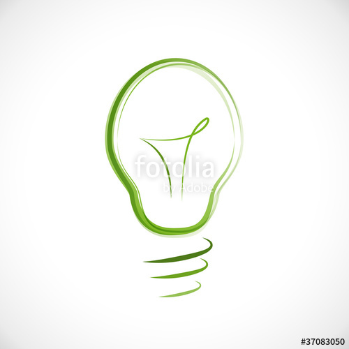 500x500 Logo Energy Efficient Light Bulb