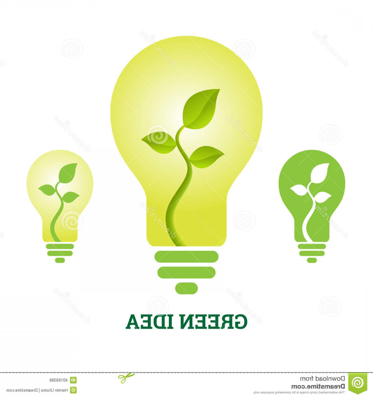 1560x1668 Royalty Free Stock Image Green Idea Plant Light Bulb Vector